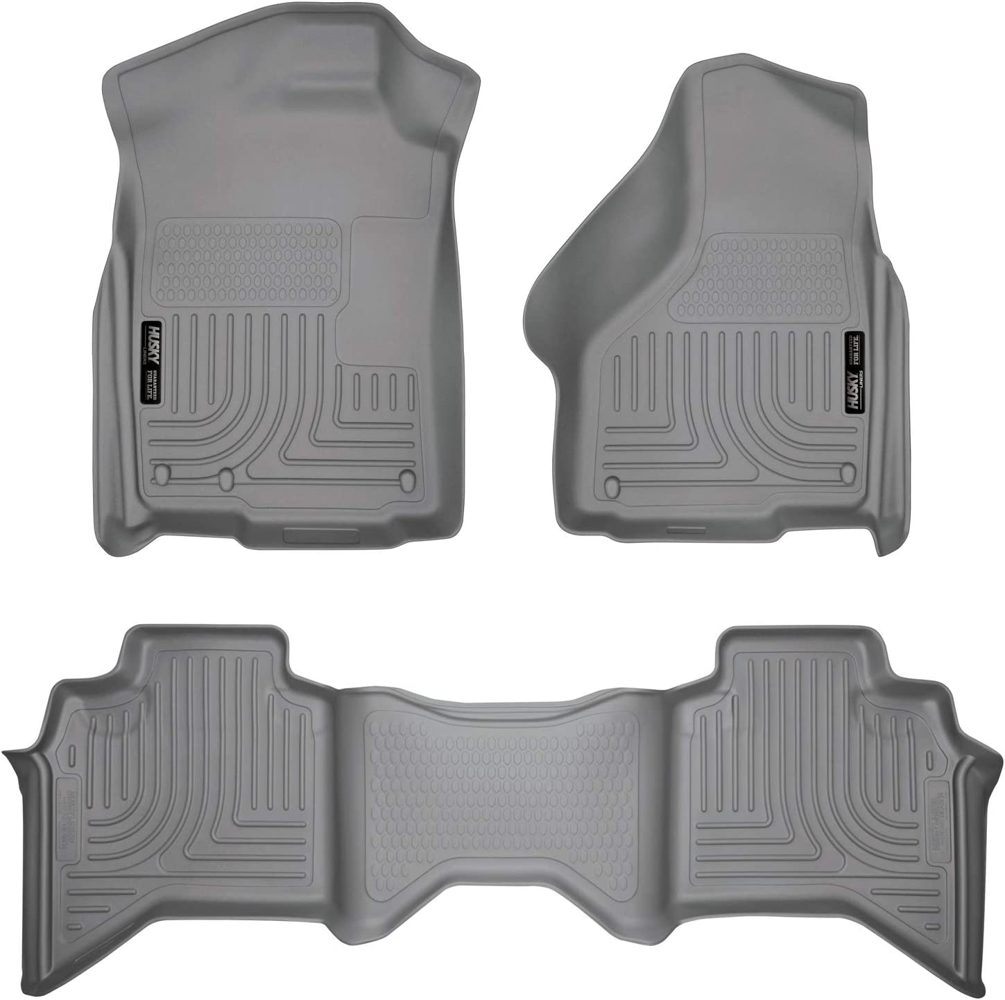 Black Husky Liners 51221 Custom Fit Heavy Duty Front Floor Mat for Select Dodge Ram Models