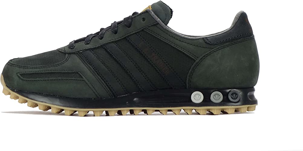 mens black leather adidas trainers
