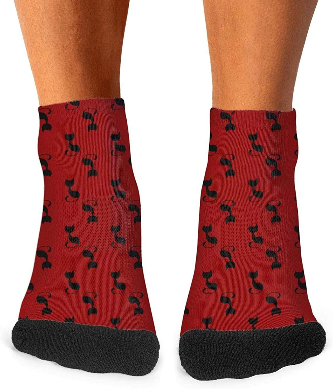 Floowyerion Mens Cute Cat Face and Footprint Novelty Sports Socks Crazy Funny Crew Tube Socks