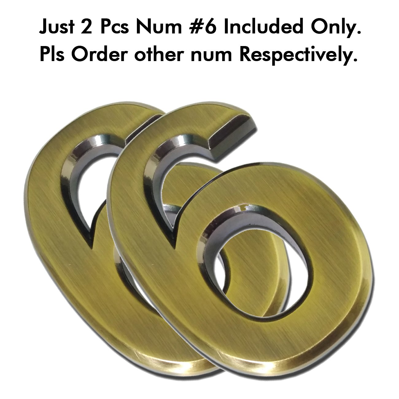 #0, Messing moderne Hausnummer je 1,9 cm 2er-Pack schwebender Effekt einfach zu installieren Magicdo Zahl aus massivem 2er-Pack