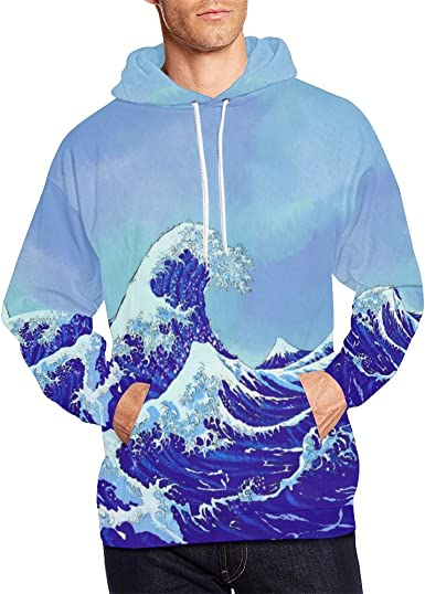 INTERESTPRINT Mens Pullover Hoodies Sweatshirt