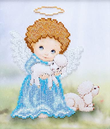Amazoncom Angel Beads Embroidery Kit Contemporary