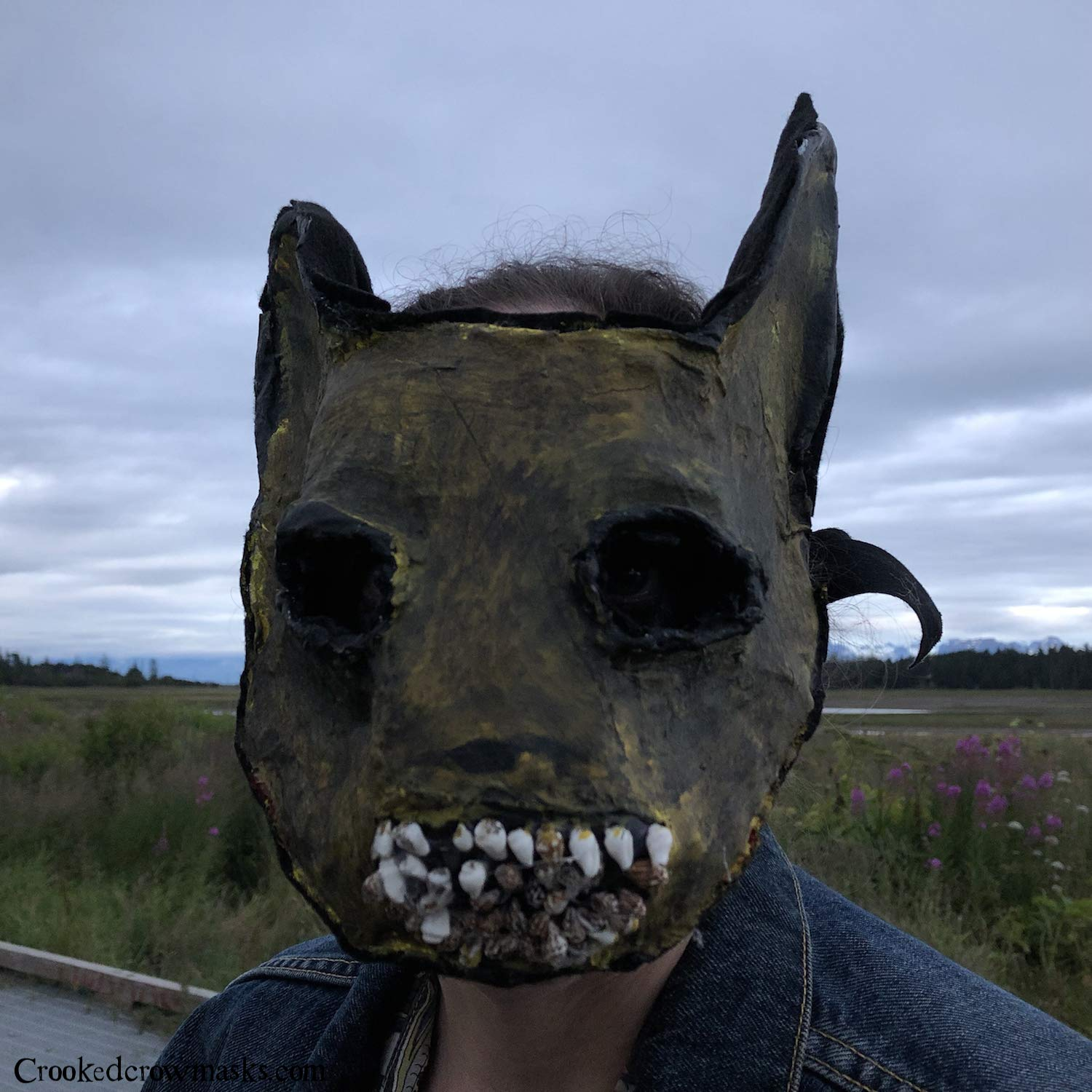 Creepy mask scary mask creepy pikachu pokemon monster mens halloween mask photo shoot mask horror mask tooth fairy mask adult horror mens by crooked crow masks