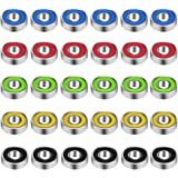 30 Pieces 608 Hybrid Ball Bearings for Tri-spinner Fidget Spinner Toy, Double Shielded by EAONE