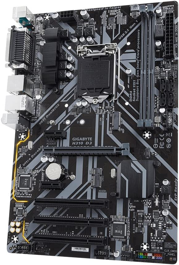 32 GB 2400 2133 DIMM Gigabyte H310 D3 Intel H310 Express LGA 1151 ATX Z/ócalo H4 Placa Base DDR4-SDRAM 2666 MHz