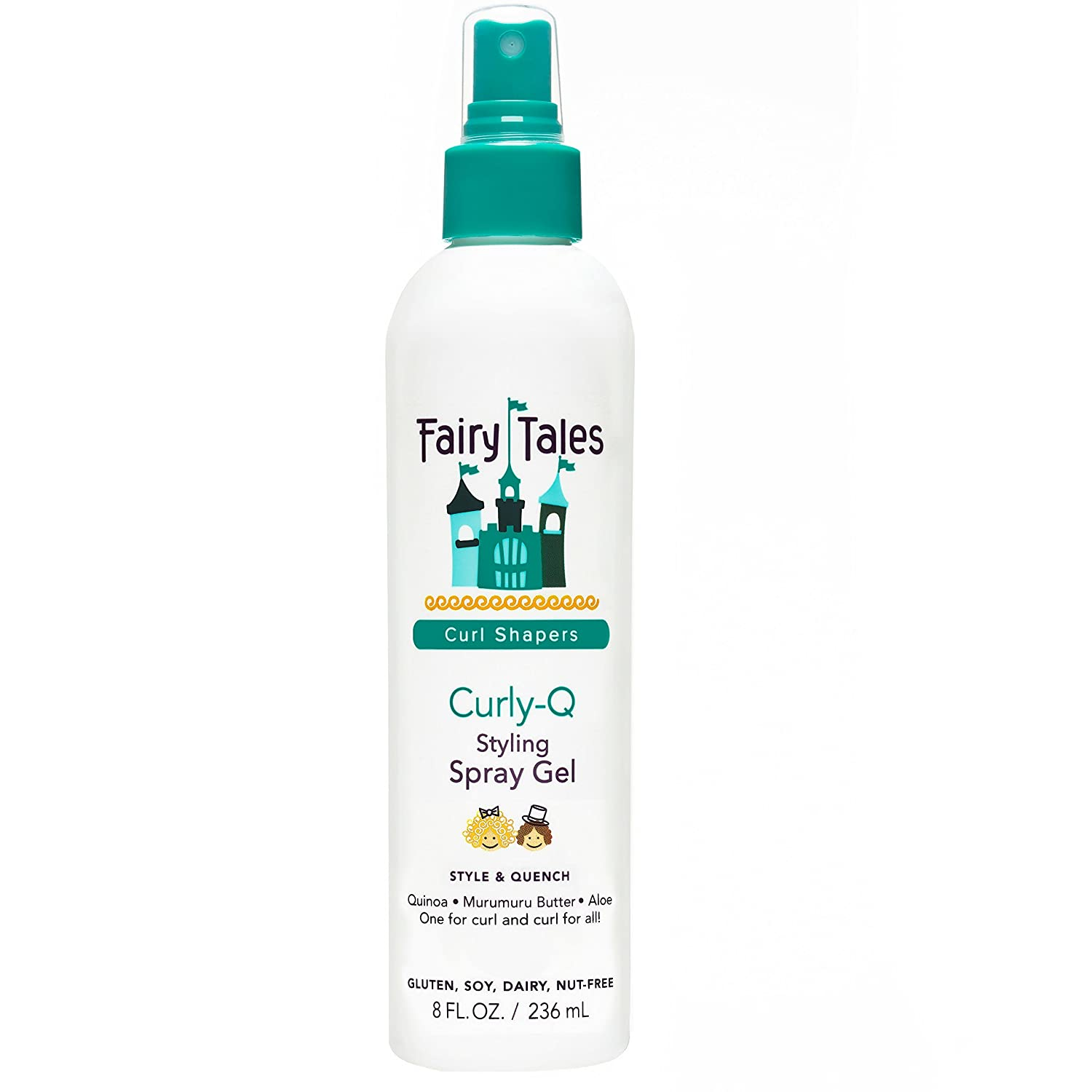 Fairy Tales Curly-Q Daily Kid Styling Spray Gel - Sulfate & Paraben Free - 8oz
