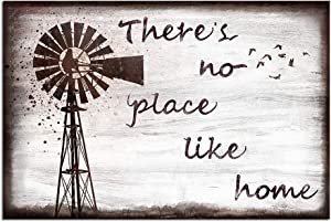 sechars Home Quotes Canvas Wall Art Vintage Farmhouse Windmill Painting Art Prints Family Family Sign Canvas Rustic Home Wall Decor Gallery Canvas Wrapped Ready to Hang 16x24inches