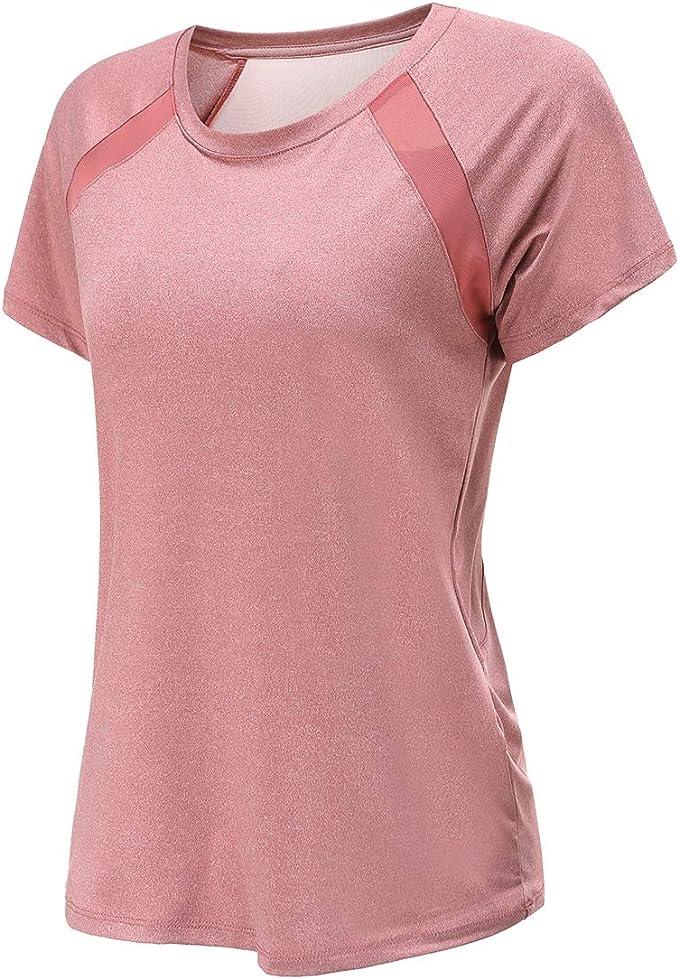 Dancing Cat Women's Workout Short Sleeve Sports Tee Shirt Active Plus Size Tops Active wear