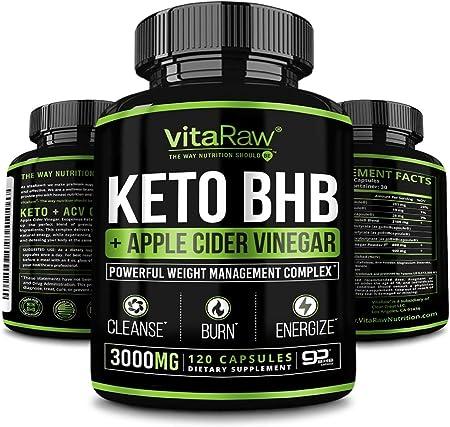Keto Pills with Green Tea + Organic Apple Cider Vinegar Capsules [ Powerful 3000MG Diet Pills ] Exogenous Ketones Supplement + ACV   Keto BHB Ketones Detox Cleanse That Work Fast for Women and Men