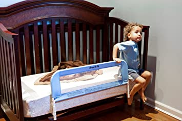 Dream On Me Mesh Security Crib Rail Blue