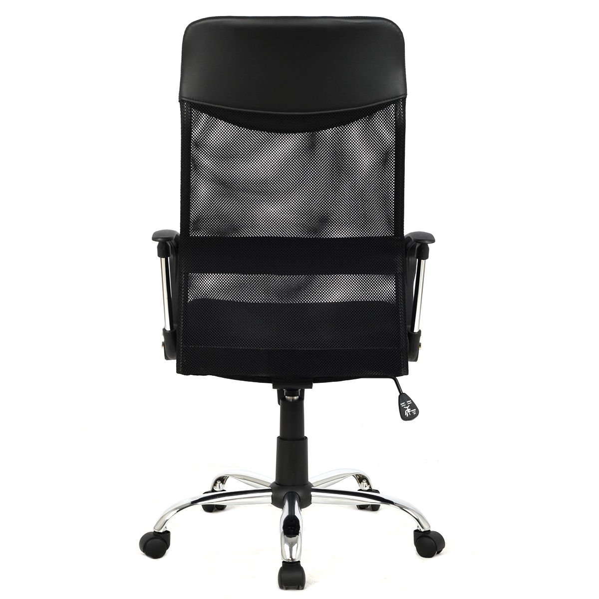 Modern Furniture 8074-BK High-Back Swivel Ergonomic Mesh/PVC Seat Desk Task Computer Swivel Lumbar Support Executive Office Chair with Seat Height Adjustment by mck (Image #4)