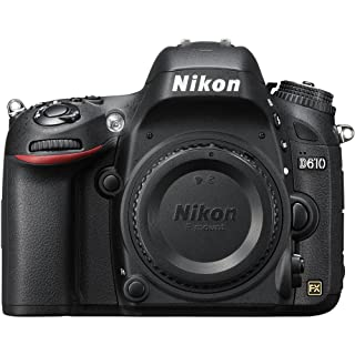Nikon D610 24.3 MP CMOS FX-Format Digital SLR Camera (Body Only)(Renewed)