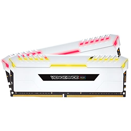 Corsair Vengeance RGB Kit de Memoria Entusiasta de 16 GB 2 x 8 GB DDR4 3000 MHz C16 XMP 2 0 Blanco