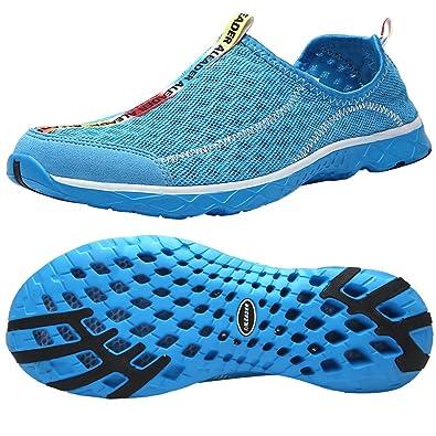 550ef11b0 ALEADER Men s Mesh Slip On Water Shoes Blue 7 D(M) US