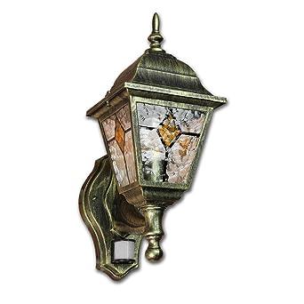 Antik 12W LED Wandleuchte für Außen mit Bewegungsmelder Außenleuchte Außenlampe