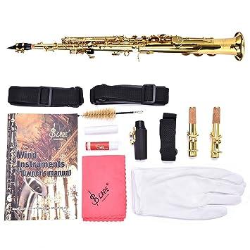 B-Flat - Llavero de saxofón recto de latón para saxofón BB B ...