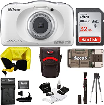 Amazon.com : Nikon COOLPIX W100 Waterproof Digital Camera ...