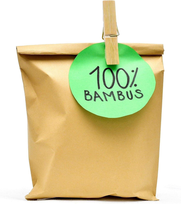 Clip da bricolage 60 x 12.5 x 11mm ECENCE Mollette da bucato in bamb/ù mollette ecologiche per bucato Molle Super Resistenti 12010203 60pz