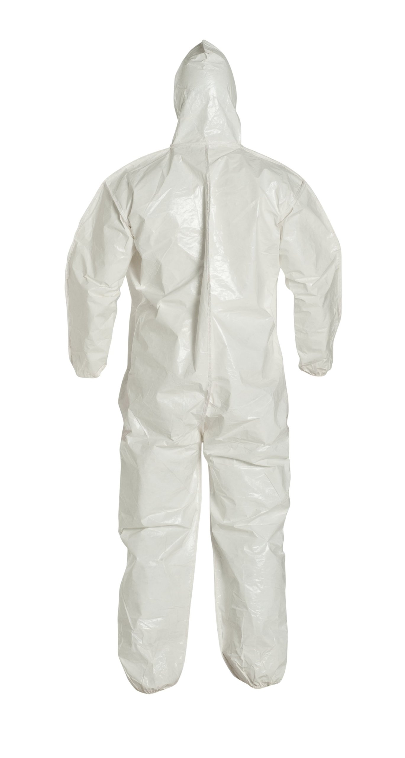 DuPont Tychem 4000 SL127B Disposable Chemical Resistant Coverall with Hood, Elastic Cuff and Bound Seams, White, 2X-Large (Pack of 12) by DuPont (Image #4)