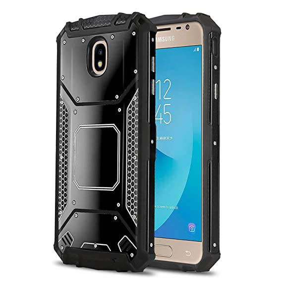 Phone Case for [Samsung Galaxy J3 Orbit (S367VL)], [Alloy Series][Black]  Aluminium [Metal Plate] Military Grade Cover for Galaxy J3 Orbit (Tracfone,