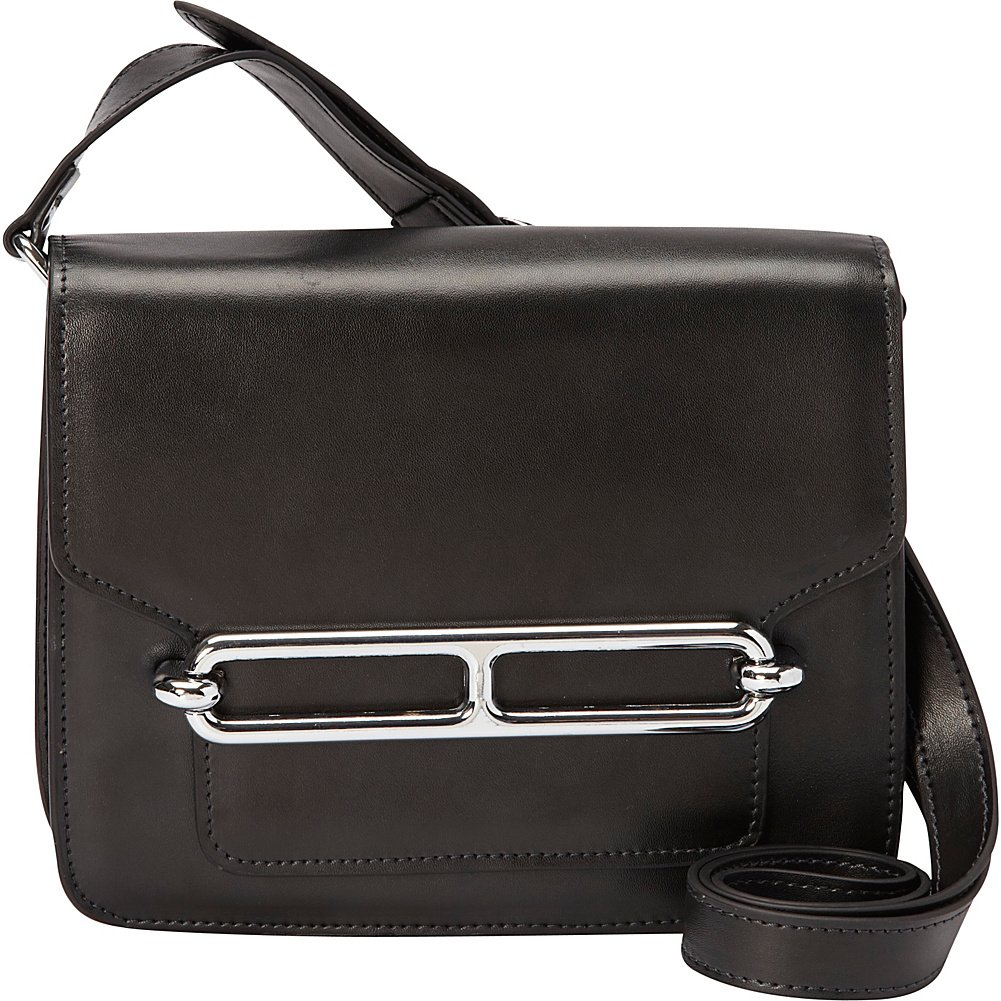 Donna Bella Designs Harper Leather Shoulder Bag, Black