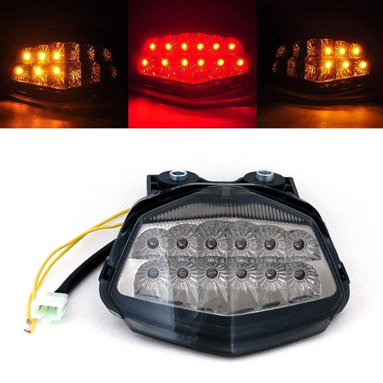 Areyourshop Integrated LED TailLight Turn Signals For Kawasaki EX250/Ninja 250R 2008-2012 Smoke
