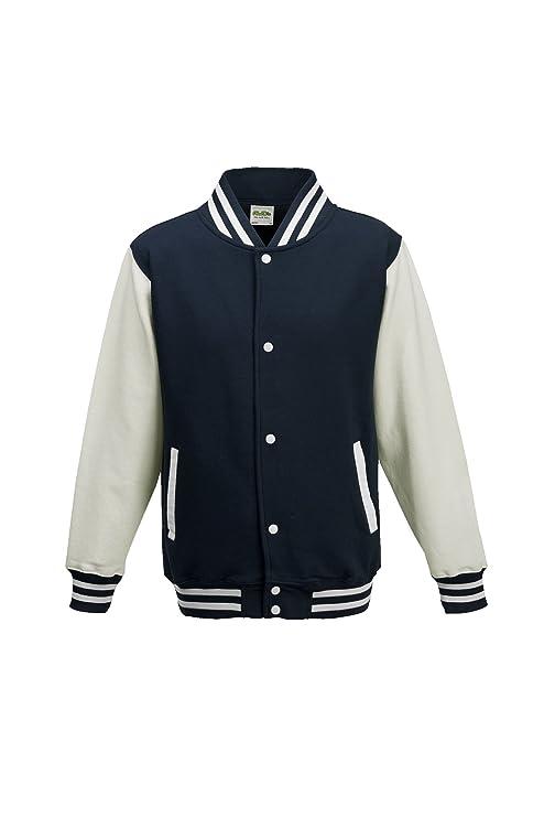 d9d242abf8a Amazon.com  AWDis Hoods Boys  Varsity Letterman Jacket  Clothing