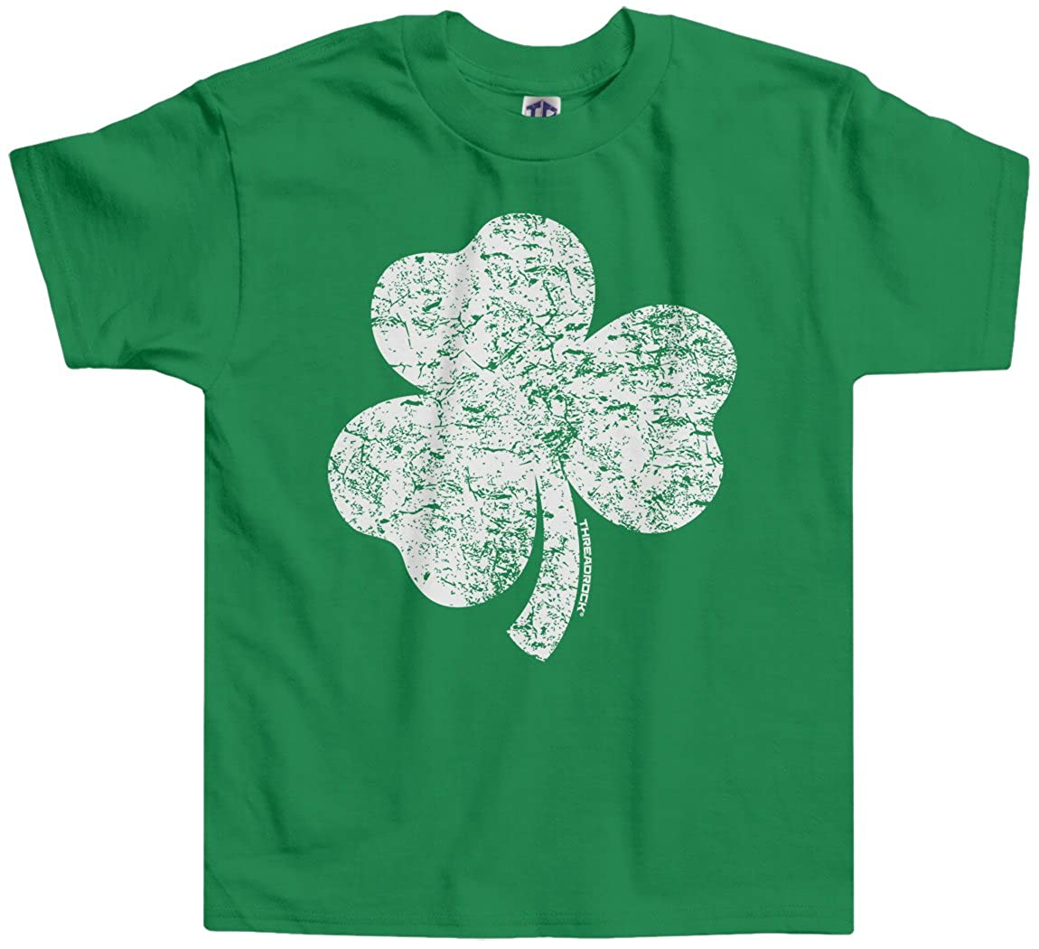 Threadrock Little Boys Distressed Shamrock Toddler T-Shirt