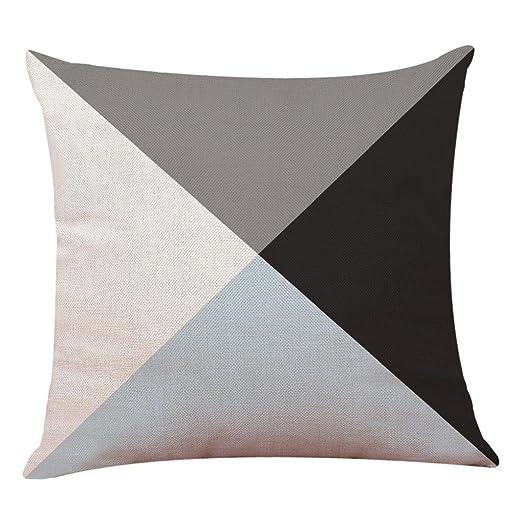 Fundas De Cojines, ❤️Xinantime Decoración del hogar Fundas de colchón Funda de almohada geométrica simple 45cm x 45cm (❤️I)