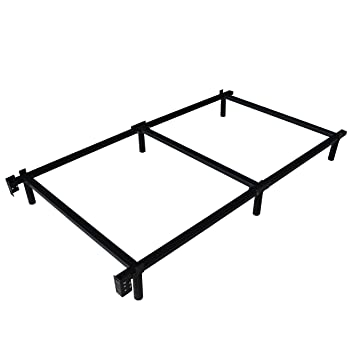 swascana stt heavy duty easy assemble steel bed frame box spring and mattress foundation twin