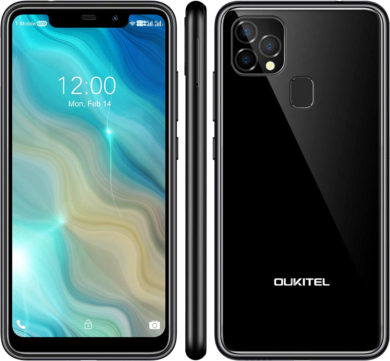 OUKITEL C22 Unlocked Smartphones (2021 New) 128GB/4GB Android 10 Unlocked Cell Phones with Dual Sim 256GB Expandable 5.86'' 4000mAh Face ID + Fingerprint GSM 4G LTE International Phones