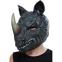 Smiffys 50883 Rhino Latex Mask, Men, Grey, One Size