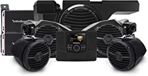 Rockford Fosgate RZR-STAGE4 600 Watt Stereo, Front and Rear Speaker, and Subwoofer Kit for Select 2014-2018 Polaris RZR Models