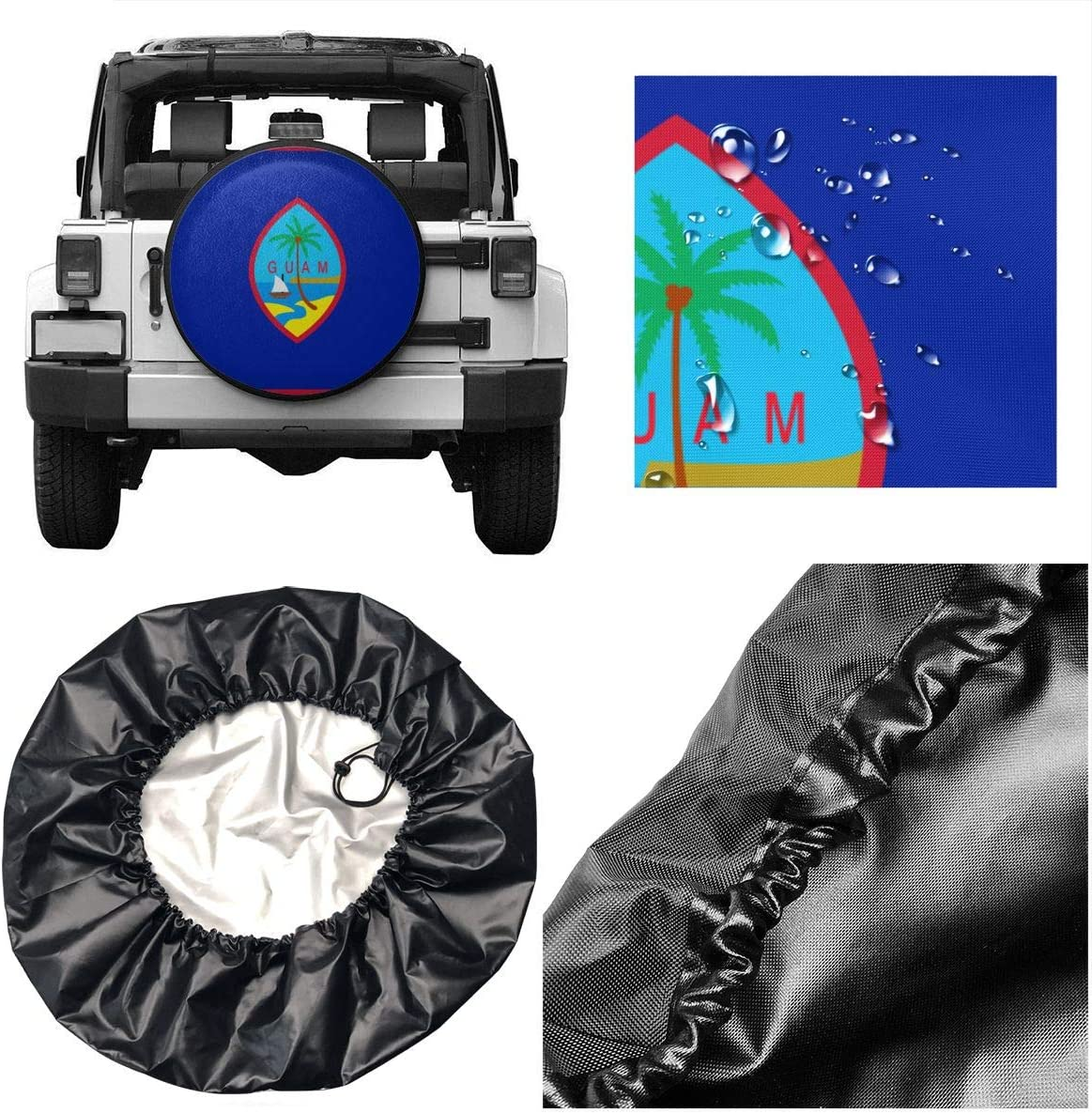 Runytek GM Tire Dust-proof Cover Protective Cover Spare Tire Storage Bag Fits up to 32 inches Diameter Tires
