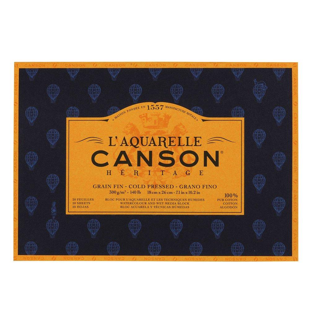 Canson l' acquerello Canson eredità Blocco 4Lati 20fogli grana fine Grana fine 31 x 41 cm 100720004