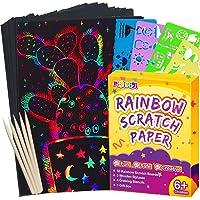 Pigipigi Scratch Paper Art for Kids - 59 Pcs Magic Rainbow Scratch Paper Off Set Scratch Crafts Arts Supplies Kits Pads…