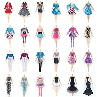 "Lance Home Clothes for 11.5"" Girl Doll, 10 Sets Dresses 10 Pairs of Shoes 10pcs Bag for 11.5 Inch Girl Doll Accessories Gifts for Children, Random Style (30pcs): Toys & Games"