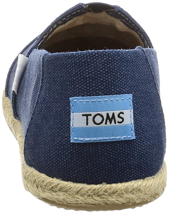 Amazon.com | TOMS Navy Washed Canvas Womens Classics Slip-On Shoes (10) | Fashion Sneakers
