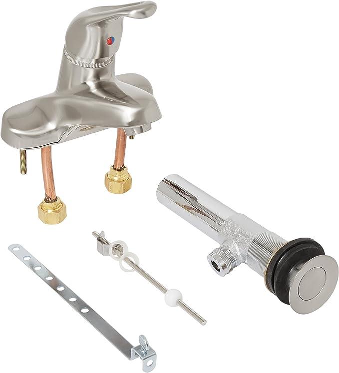 Elements of Design EB6541LP Legacy Single Handle 4 Centerset Lavatory Faucet Polished Chrome 5-1//8 in Spout Reach