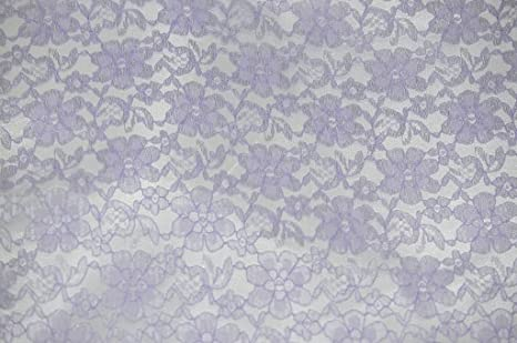 "60/"" Wide Lace Floral Rachelle Fabric LAVENDER Sold by the yard"
