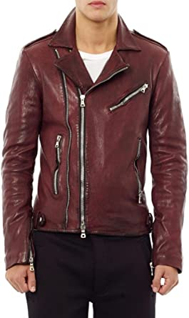 World of Leather Moto Style Genuine Lambskin Leather Jacket Biker Motorcycle