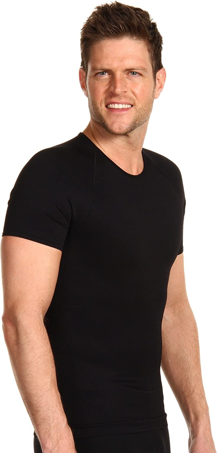 SPANX Mens Zoned Performance Crew Neck,