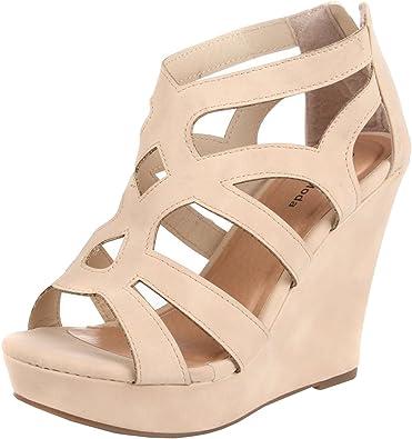 TOP MODA Women ELLA-15 Strap Platform Wedge Sandal