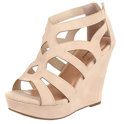 2096aa1bf TOP Moda Womens Ella-15 Fashion Wedge Sandals BEI 6 Beige
