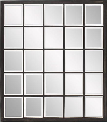 Howard Elliott Superior Hanging Rectangular Window Wall Mirror