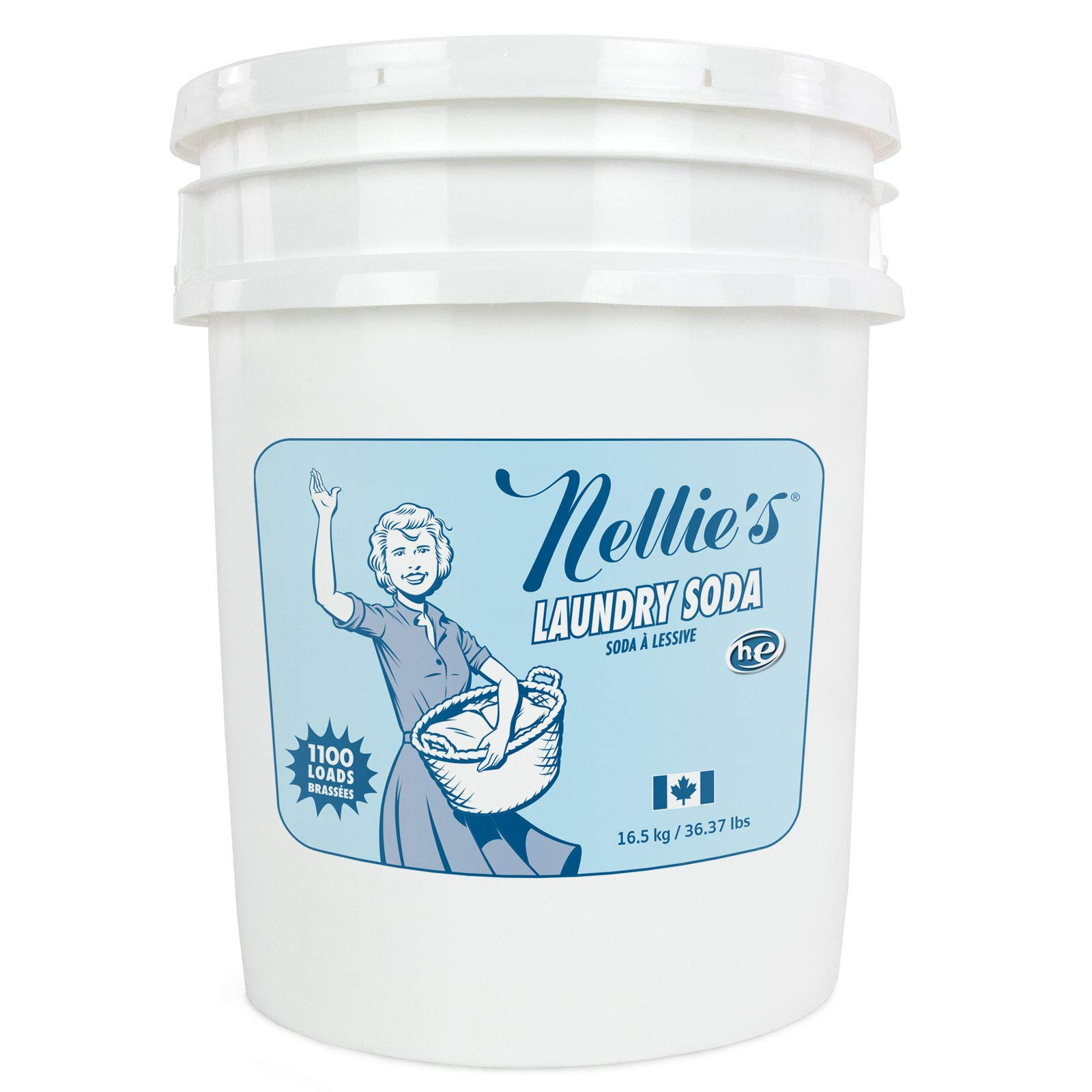 Nellie's Laundry Soda - 1100 Load Laundry Bucket by Nellie's