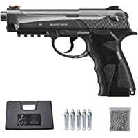 Borner Sport 306 | Pack Pistola de balines (perdigones Bolas de Acero BB's). Arma de Aire comprimido CO2 Tipo Beretta 92…