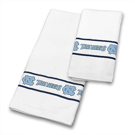 North Carolina Tar Heels 4 pc juego de toallas incluye: (2 toallas de ducha