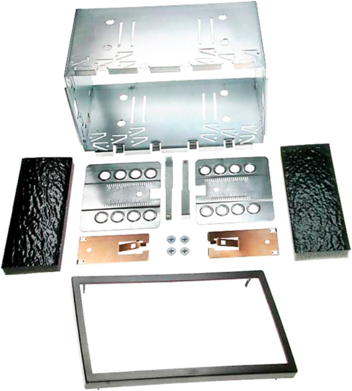 Carav 14 004 Autoradio Einbaurahmen Metall Schacht Universal 2 Din 180 X 113mm Auto