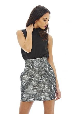 7a7293e5f47 Amazon.com  AX Paris Women s 2 in 1 Floral Skirt Mini Dress  Clothing